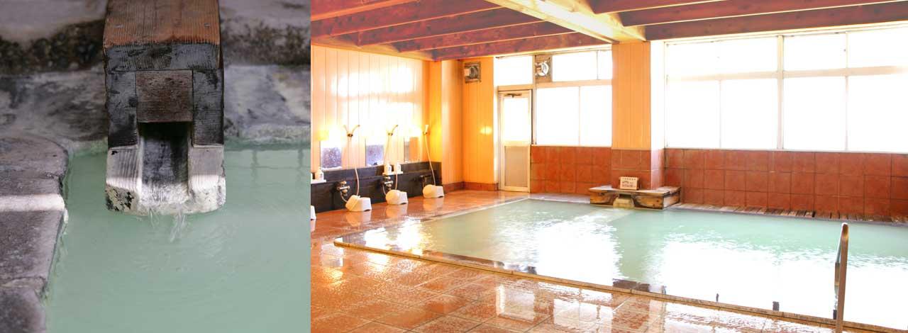 硯川ホテル自慢のにごり湯